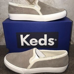 🆕Keds Tan Suede Double Decker SlipOn Sneakers